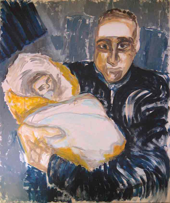 Helden, Marlene Kern, Männerbilder, Serie 1, Format 120 x 100 cm, Acryl auf Leinwand